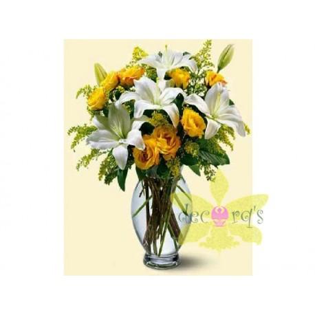 Bouquet en cristal