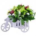 Triciclo vintage con flores